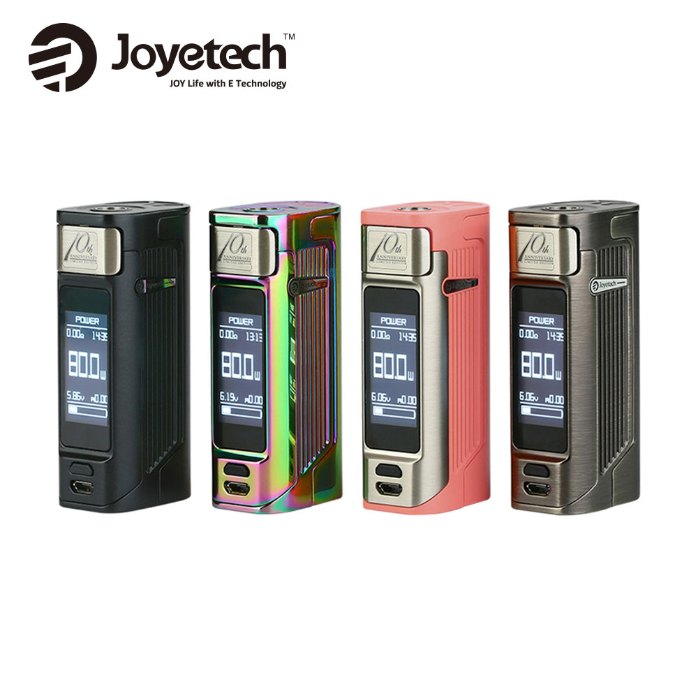Оригинал Joyetech ESPION Solo 21700 80 Вт TC поле MOD с дюймов 1,3 дюймов OLED сенсорный экран без 18650 ячейки 10 юбилей Ограниченная серия