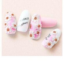 5D Acryl Gegraveerd nail art sticker wit Verschillende vormen bloemen Template Decals Tool DIY Nail Decoratie Gereedschap Z0134