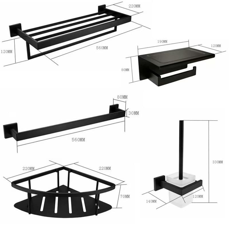 Black Bath Hardware Sets