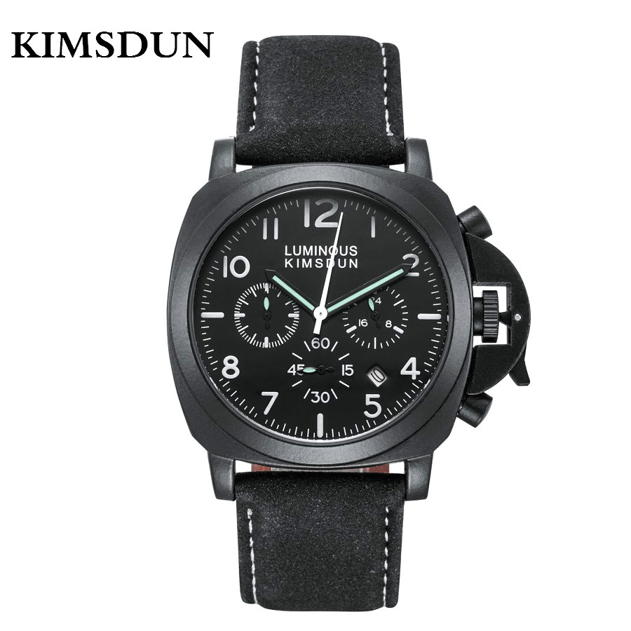 Man Watch KIMSDUN Fashion Sport Watches Men Waterproof Luminous Luxury Brand Watch Chronograph Quartz Wristwatch erkek kol saati