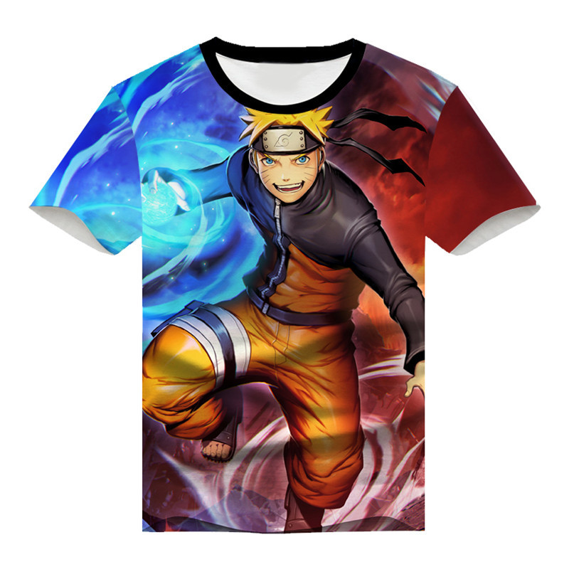 Naruto: Shippuden Uzumaki Naruto t-shirt Cosplay men and women Uchiha Sasuke 3D printing Anime fashion t-shirt Summer blazer