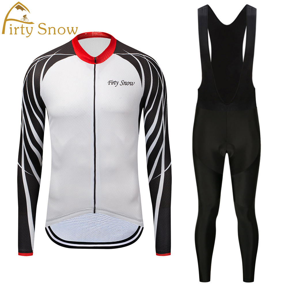 Firty sonw Winter and autumn Outdoor Sport cycling clothing Cycling Jersey Set Clothing Bib Suit with 9D Gel cycling pants men