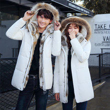 Pakistan Women Clothing 2017 Hot New Jacket In The Long Section Of Korean Male Young Couples Dress Big Winter Coat Thick Code