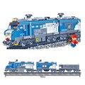 Banbao 8228 kits de edificio Modelo compatible con lego City RC Tren de Carga carriles 3D bloques de construcción de juguetes y pasatiempos para niños