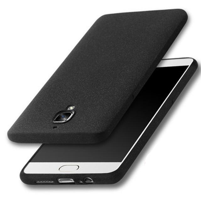 Ultra Fino Fosco Flexível de Silicone Macio Caso Protetor de Telefone Capa para Oneplus Oneplus3 3 + Protetor de Tela De Vidro Temperado