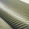 200gsm 1100D amarillo Kevlar y 3 K fibra de carbono de tejido mezclado 2x2 de carbono, Kevlar tela fibra de aramida 40 /100 cm de ancho
