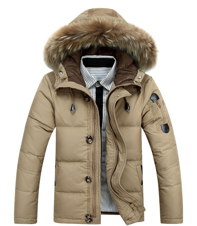 Free Shipping!2017 Winter Keep Warm Coat Casual Men's Down Jacket Men's Brand 90% White Duck Down Long Section Jacket Coat Men