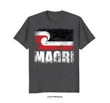 e7ca8d5624f Забавные Для мужчин футболка Для женщин новинка футболка маори флаг Новая  Зеландия Флаг Футболка(China