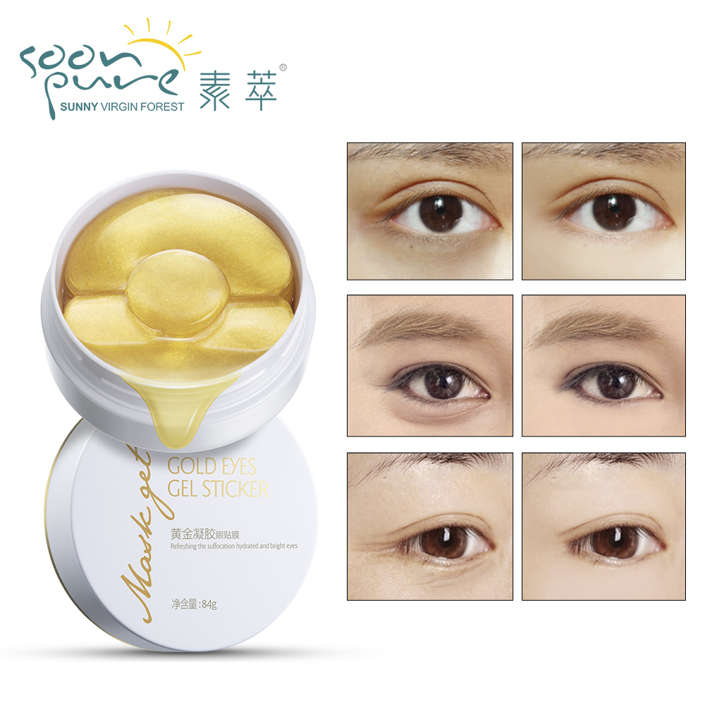 Beauty & Health Skin Care Symbol Of The Brand Soon Pure Gold Aquagel Collagen Eye Mask Ageless Sleep Mask Eye Patches Dark Circles Face Care Mask To Face Skin Care Whitening