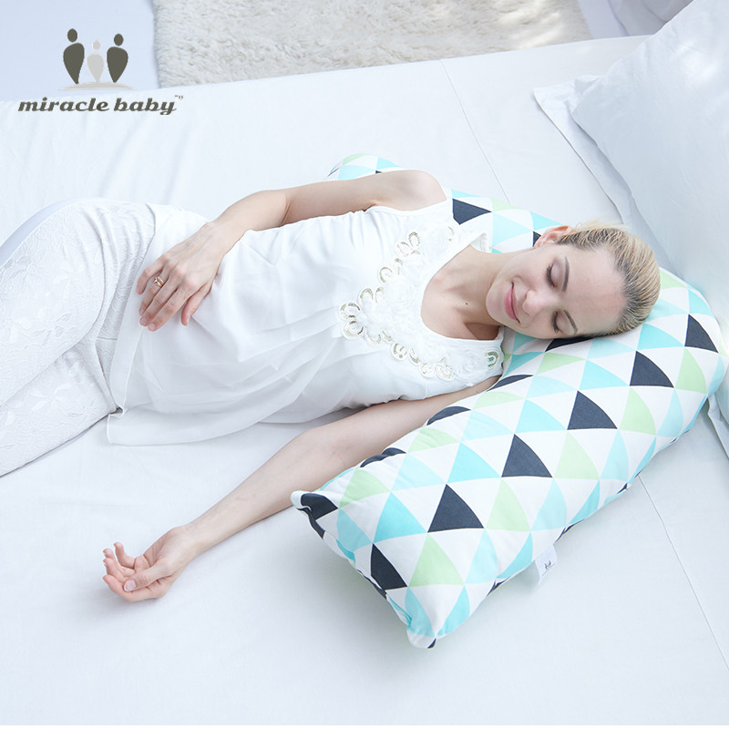 Miracle Baby Cotton Multifunction V-Shaped Infant baby Breastfeeding Pillow Slip Protect Waist Support Big Nursing pillow97X74cm