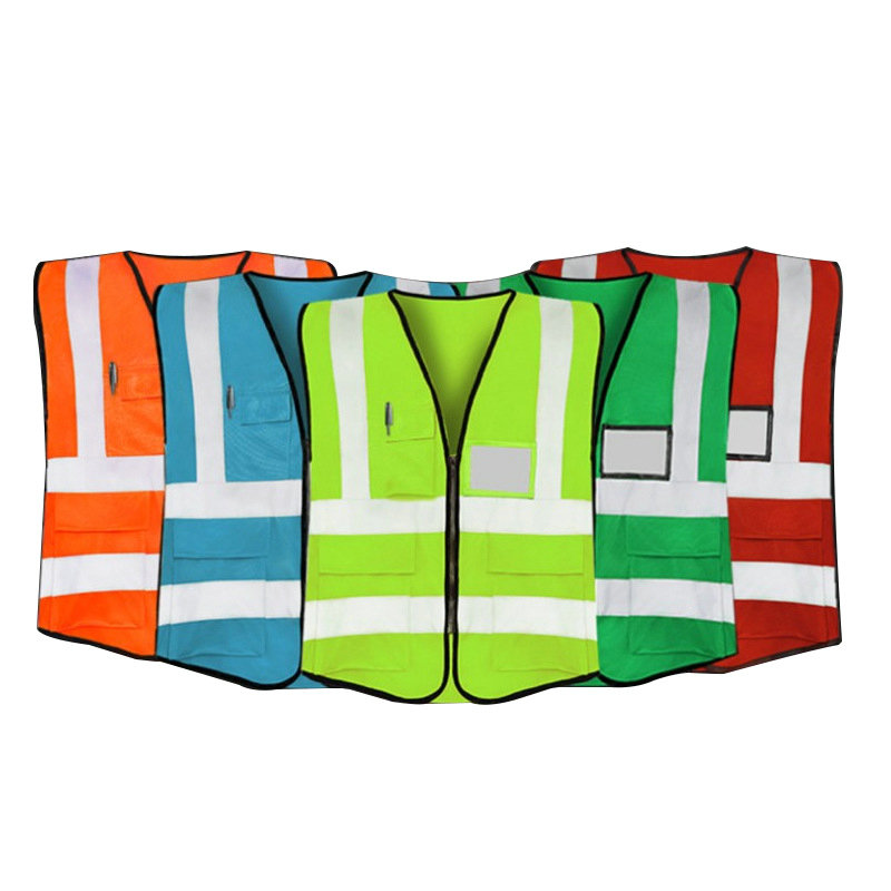 HI VIS VIS EXECUTIVE VEST HIGH VISIBILITY WORK WAISTCOAT REFLECTIVE SAFETY CLOTHING TOPS ORANGE YELLOW BLUE RED FREE SHIPPING