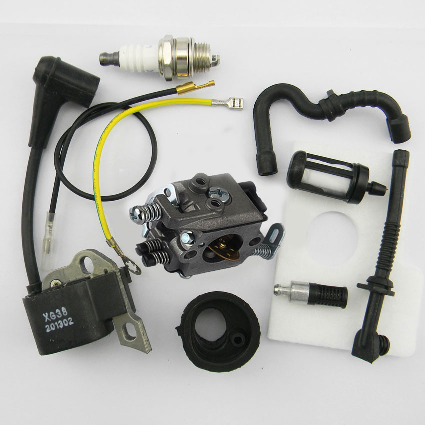 Ignition Coil Walbro Carburetor Air Fuel filter For STIHL 017 018 MS170 MS180 Chainsaws Chainsaw NEW FAST SHIPPING 2 pcs lot air filter for stihl 4224 140 1801a 4224 140 1801a ts700 ts800 new