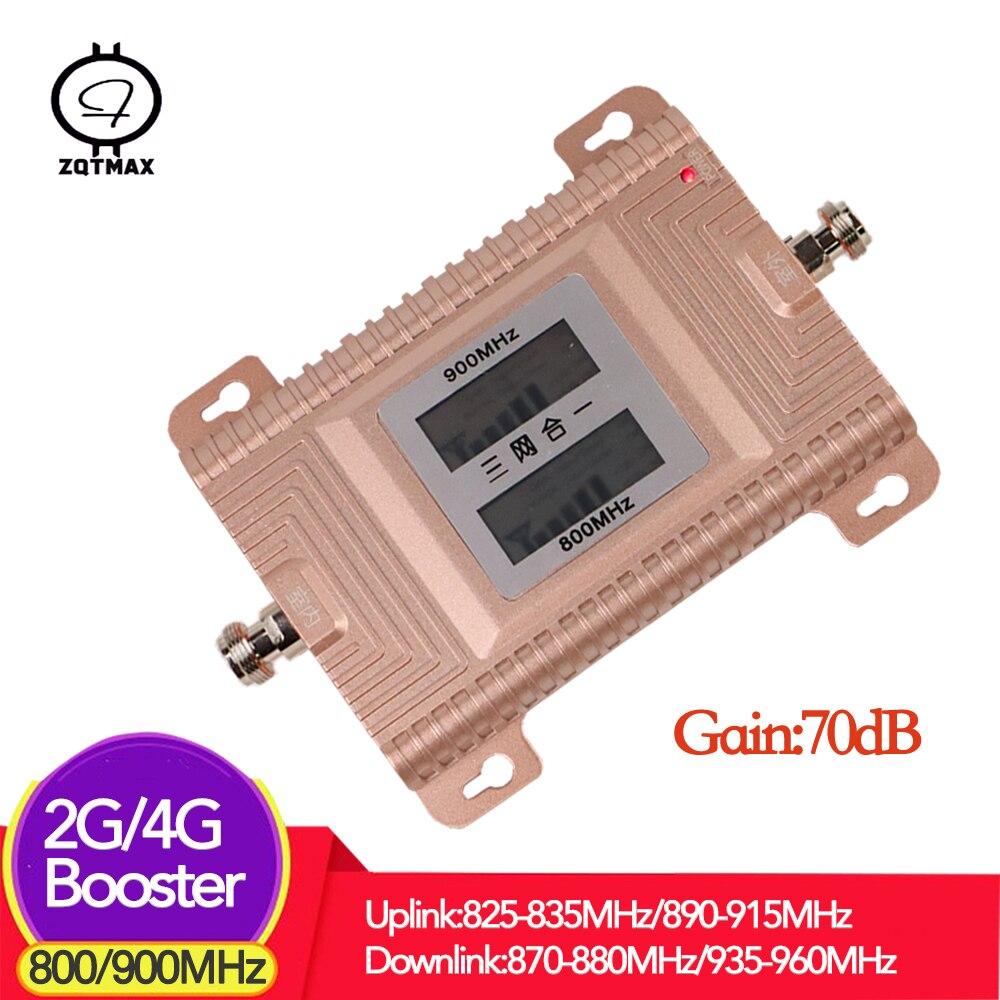 ZQTMAX 2g 4g LTE 800 GSM 900 mhz Double bande Amplificateur de signal 2g 4g Amplificateur de téléphone Cellulaire 800 900 mhz Amplificateur de Signal