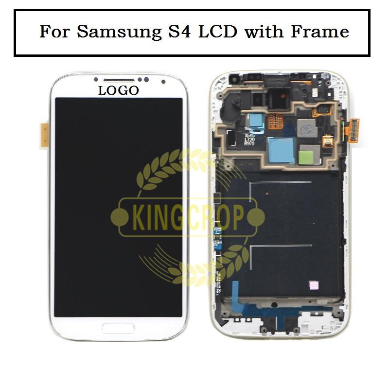Prix pour I337 i9505 i9500 i545 m919 LCD Pour Samsung S4 Lcd Écran Digitizer avec cadre Assemblée AAA Mobile Téléphone Blanc Noir Bleu + Outils