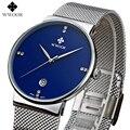 New listing Men watch Luxury Brand Watches Quartz Clock Fashion Stainless Steel Mesh strap male Watch Sports Wristwatch relogio