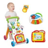 Baby Walker trolley kinder musik Walker einstellbare geschwindigkeit anti rollover spielzeug Multifuctional Kleinkind Trolle-in Lauflernhilfen aus Mutter und Kind bei