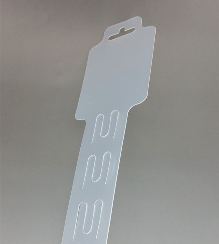 L92cm Plastic Clear PP Retail Hanging Merchandising Clips Holders Strips 18pcs Products Display In Supermarket Store 200pcs