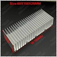 (Бесплатная доставка) 50 шт. Алюминий радиатора прессованный профиль радиатор 150X60X25 мм для Светодиодный электронных радиатора