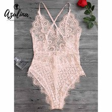 FREE SHIPPING Sexy White Black Pink Lace Jumpsuit Romper Women Floral Lace Bodysuit JKP322