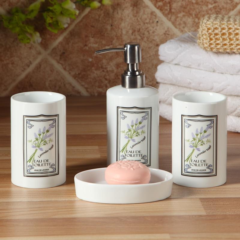 Productos de baño de cuatro piezas conjunto de cerámica set de baño elegante pla