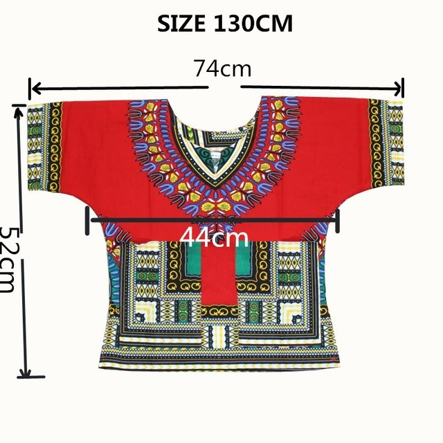 Wholesale Kids 2017 Child New Fashion Design Traditional African Clothing Print Dashiki T-shirt For Boys and Girls 1