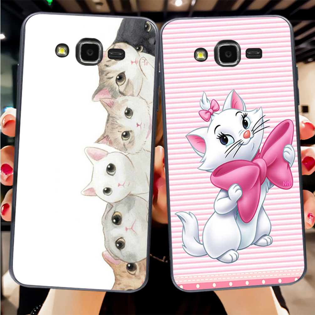 Aiboduo Cat soft Phone Case cover Shell For Samsung J1 J3 J5 2016 or For GALAXY J7 a5 a53 a7 p82
