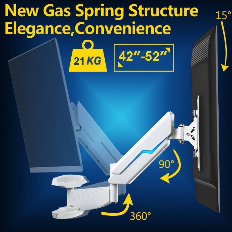 Gas Spring Full Motion 42-50 LCD TV Wall Mount Monitor Holder Max.Loading 21kgs Max.VESA 400*400MM spring 400