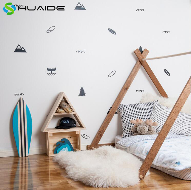Pacific Coast Theme Wall Stickers For Kids Room Nursery Decoration Boys Bedroom Baby Decals