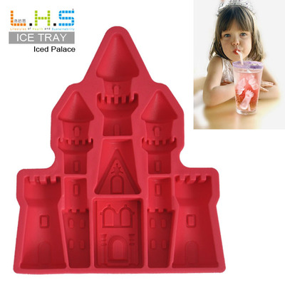 2pcs/lot Ice Cube Tray Mold Makes Palace-shaped Silicone Ice Mould Novelty Gifts Ice Tray Summer Drinking Tool