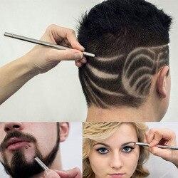 Moda cabelo escultura caneta óleo mágico cabeça entalhe homem cabelo refinado aço navalha caneta barbeiro sobrancelha barbear barbear