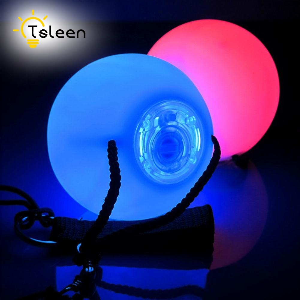 TSLEEN Free Shipping! 1 2 4 PCS LED Poi Balls LED RGB POI Thrown Ball Light Up For Level Hand Prop Stage Performance Accessories 2