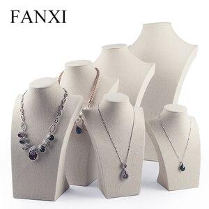 Fanxi Linen Cream-white Neckla