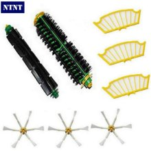 NTNT 8 Pc/lot side brush +filter kit replacement for Irobot Roomba 500 527 528 530 532 535 540 555 560 562 570 572 580 581 590