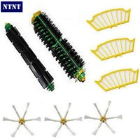 8 Pc Lot Side Brush Filter Kit Replacement For Irobot Roomba 500 527 528 530 532