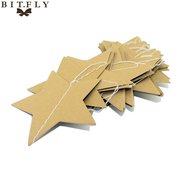 Wall Hanging Paper Star Garlands Birthday String Chain Wedding Party ...