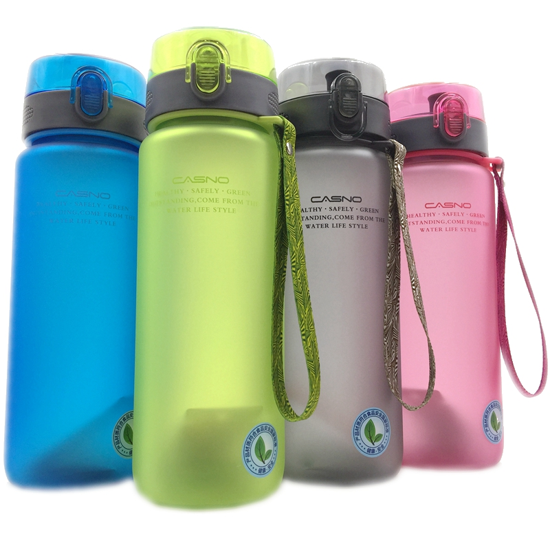 560ml/850ml High Quality Portable Water Bottle With Rope Leak-Proof Durable Drinkware Outdoor Sports Bottles BPA Free water bottle