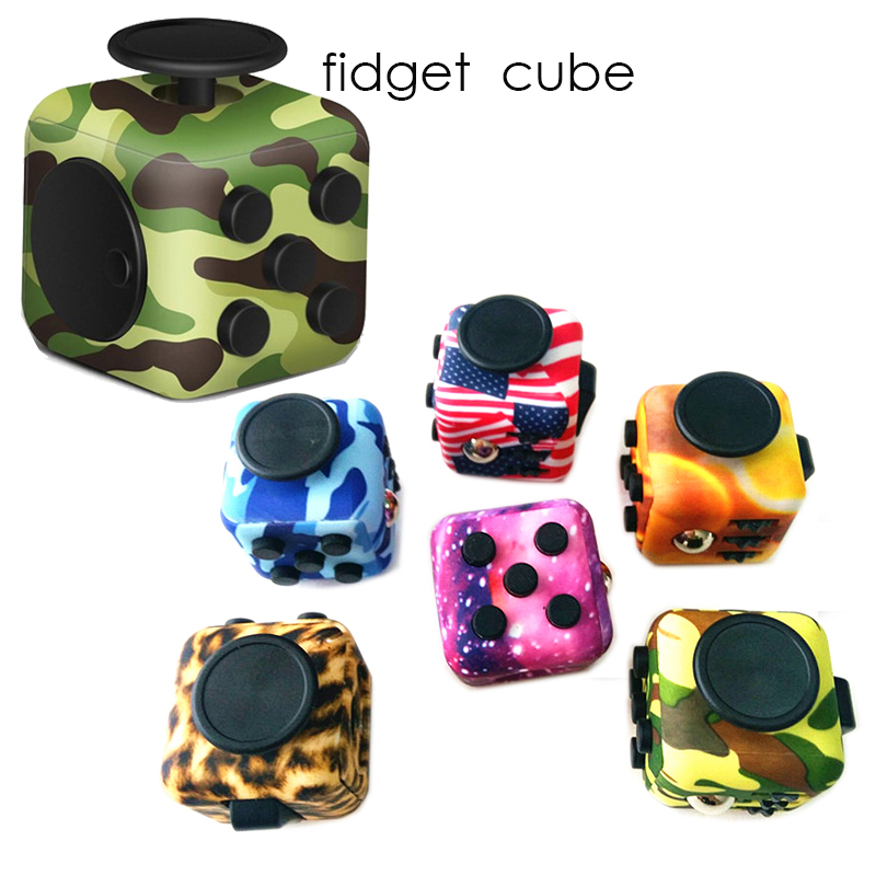 3.3cm Camouflage Mini Fidget Cube spinner Wood Grain edc Desk Finger Toy Squeeze Fun antiStress Reliever Puzzle Magic Cube toy