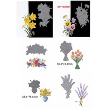 Plants Flowers Mixed Shape Metal Cutting Dies Stencil For Scrapbooking Embossing DIY Paper Card Handcrafts Decor Templates flower retro fans various shape metal cutting dies stencil for scrapbooking embossing diy paper card handcrafts decor templates