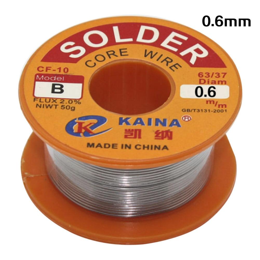 NEW0.6mm 0.8mm 1.0mm Welding Iron Wire Reel 63/37 Tin Lead Reel Rosin Core Flux Solder Wire 50g For Electrical Soldering Welding