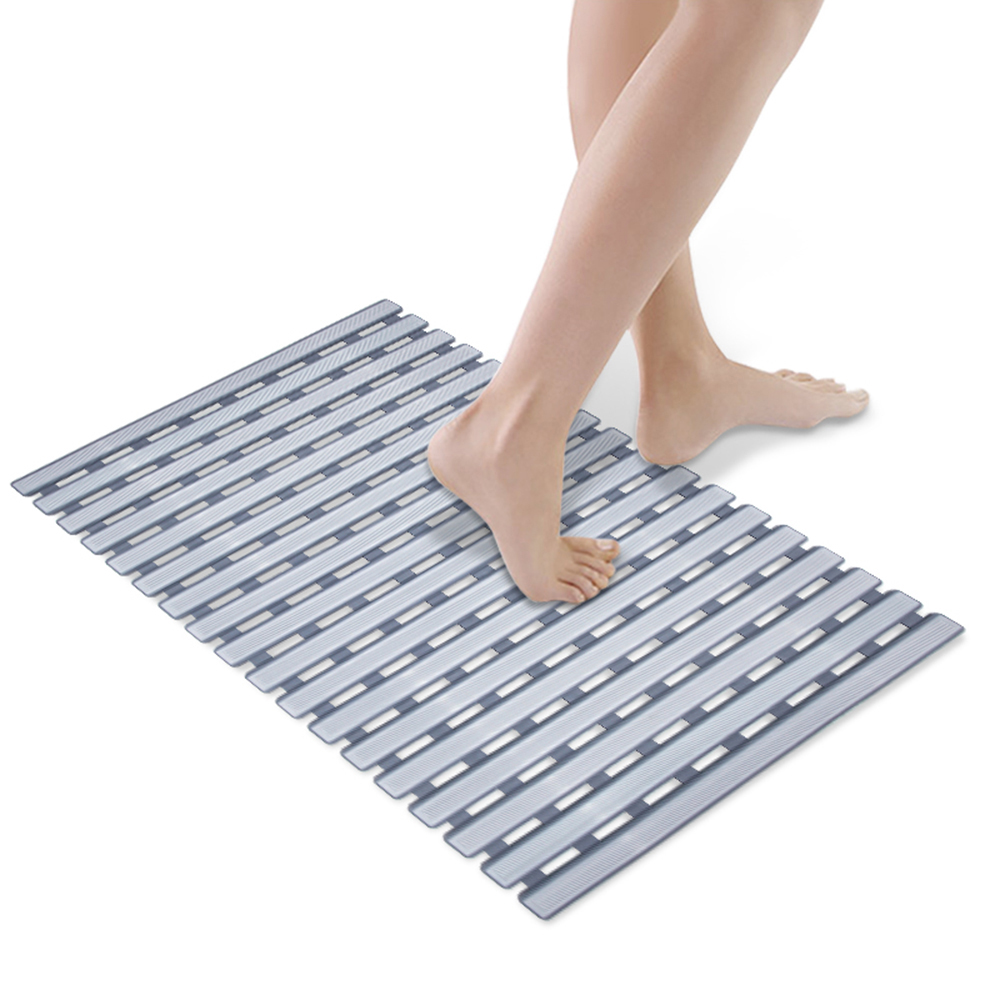 Square Non Slip Bath Mat With Suction Cups Bathroom Floor Pad Shower Safety Mats Feet Massage Anti-bacteria Bathroom Accessories Bathroom Products
