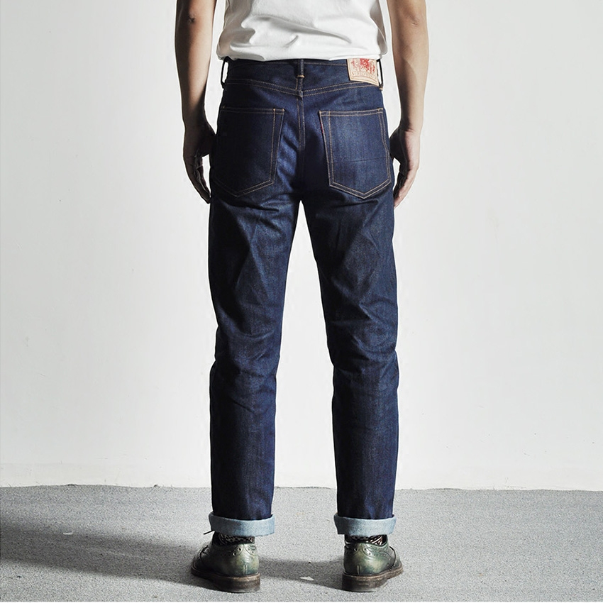 710-0001 Read Description! Middle Weight Raw Indigo Selvage Unwashed 16oz Denim Pants Unsanforised Thick Raw Denim Jean