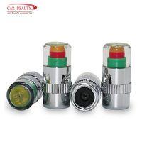 4 pçs/lote 2.4 barra 36psi pressão dos pneus do carro monitor de pressão do pneu indicador sensor tampa 3 cor olho alerta pressão ar calibre|Alarme de pressão do pneu|Automóveis e motos -