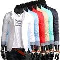 2014 primavera masculino roupa tarja bloco de cor fino blazer outerwear terno