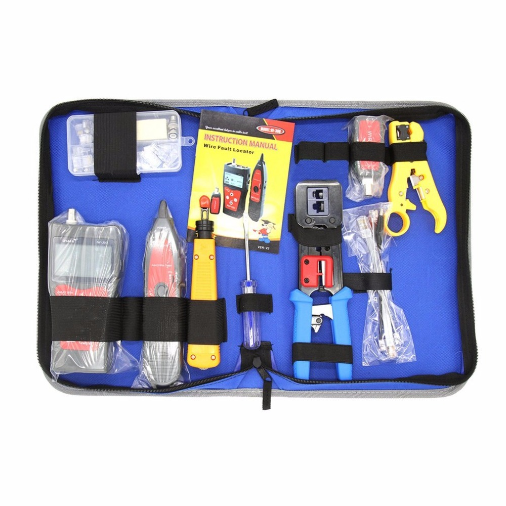 Network Maintenance Tool Repair Tool Kit Tester Set Stripping Knife NF 300 Wire Stripper Krone Punch Down Crimping Tool Set