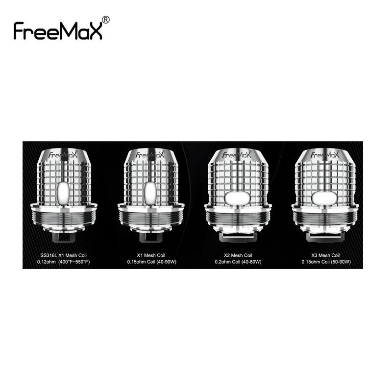 5pcs/lot Original Freemax Twister Fireluke 2/Fireluke Mesh Coil X1/X2/X3 SS316 Mesh Coil For Freemax Twister 80w Vaporizer Kit