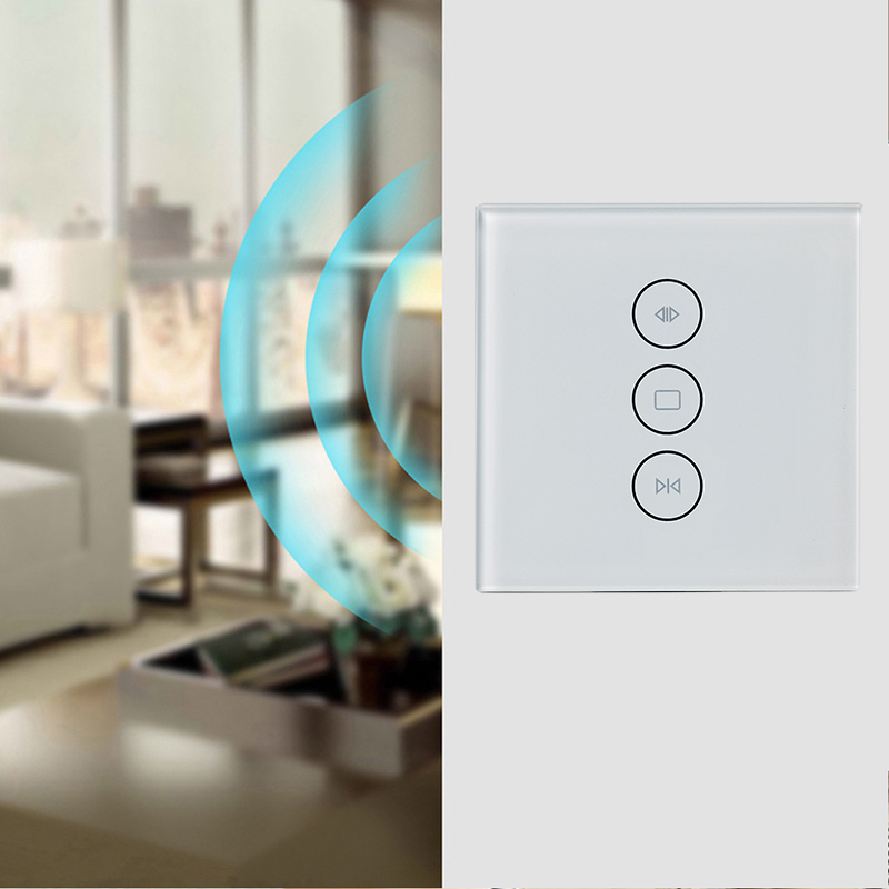 Image 5 - EU / US Wifi touch curtain switch wall switch voice control by Alexa /Google phone control For Electric curtain motor smart home-in Home Automation Modules from Consumer Electronics