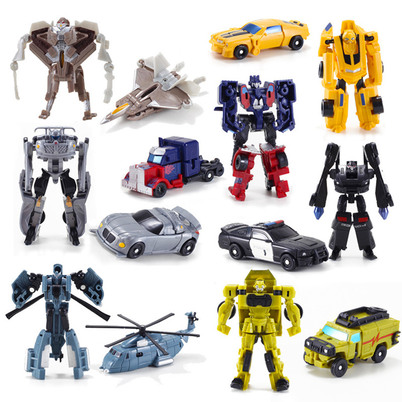 7Pcs/Set transformation Robot Cars Action Figure Toys PVC Mini Classic Transformation Toys Brinquedos Children Toys Gifts hot sale transformation devastator metal part kbb mp10 v optimus prime figure classic toys robot cars for kids christmas gifts