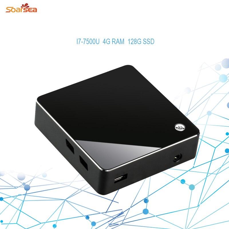 7Gen kaby lake Mini PC HTPC KIT NUC STLYE Intel Core i7 7500U Pocket DIY desktop