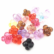 10Pcs Mixed Colorful Transparent Pendants 6 Beads In 1 Acrylic Fashion Jewelry DIY Findings 25mm