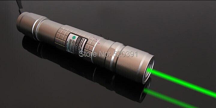 Super Powerful Military 30000m 532nm Green Laser Pointers SOS LED Flashlight Lazer Burning Torch,Burn+Charger+Gift Box teaching